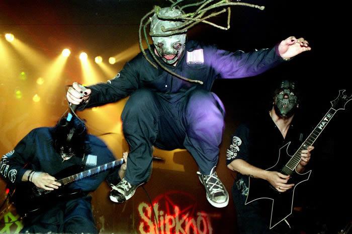 Slipknot en Barcelona (año 2000).