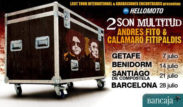 Cuatro ciudades acogerán los conciertos conjuntos de Andrés Calamaro y Fito & Fitipaldis