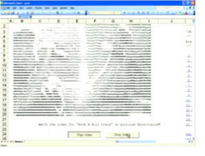 Videoclip de AC/DC en Excel