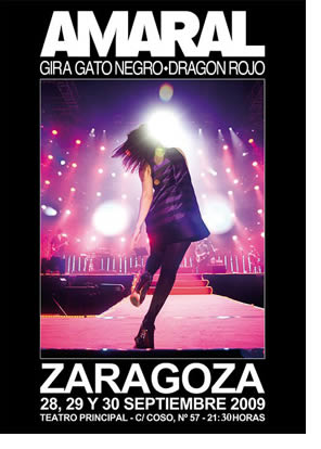 Amaral despedirá la gira de este año con tres conciertos en Zaragoza