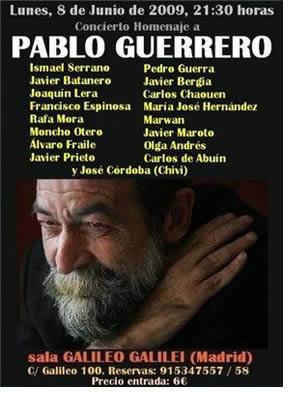 Homenaje en directo a Pablo Guerrero