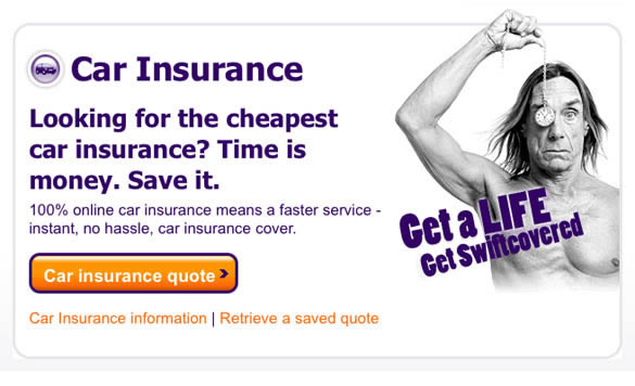 Iggy Pop vende seguros de coche