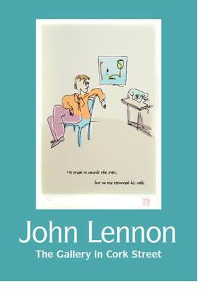 Exposición de obra gráfica de John Lennon