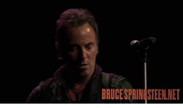 """Vídeo en vivo de """"The wrestler"""", en la web de Springsteen"""