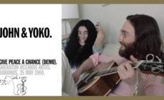 """Vídeo inédito de la primera interpretación de """"Give peace a chance"""" de John Lennon y Yoko Ono"""