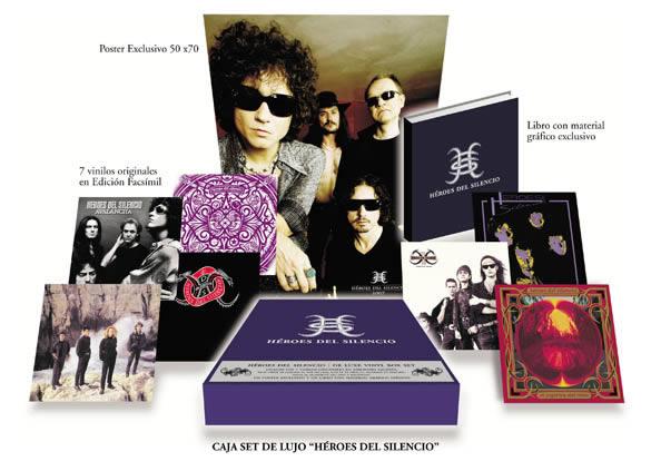 Una caja reúne todos los discos de Héroes del Silencio reeditados en vinilo y en edición limitada