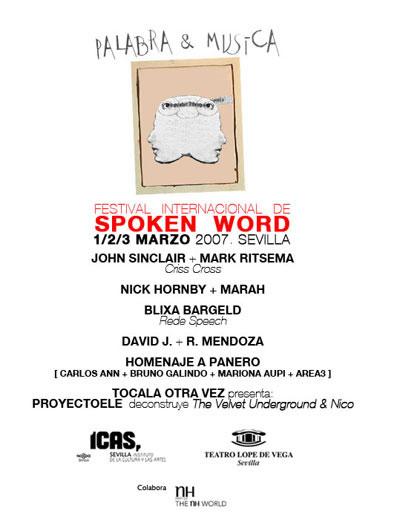 Tercera edición de Palabra y Música